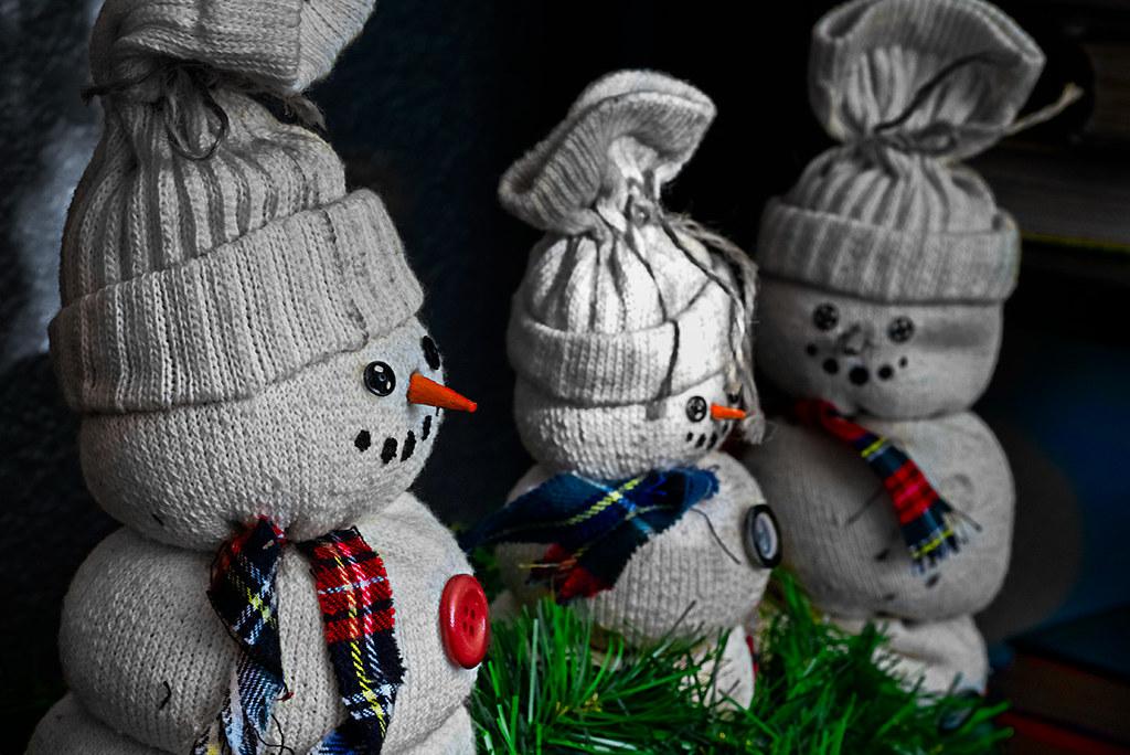 vintage snowman doll horror
