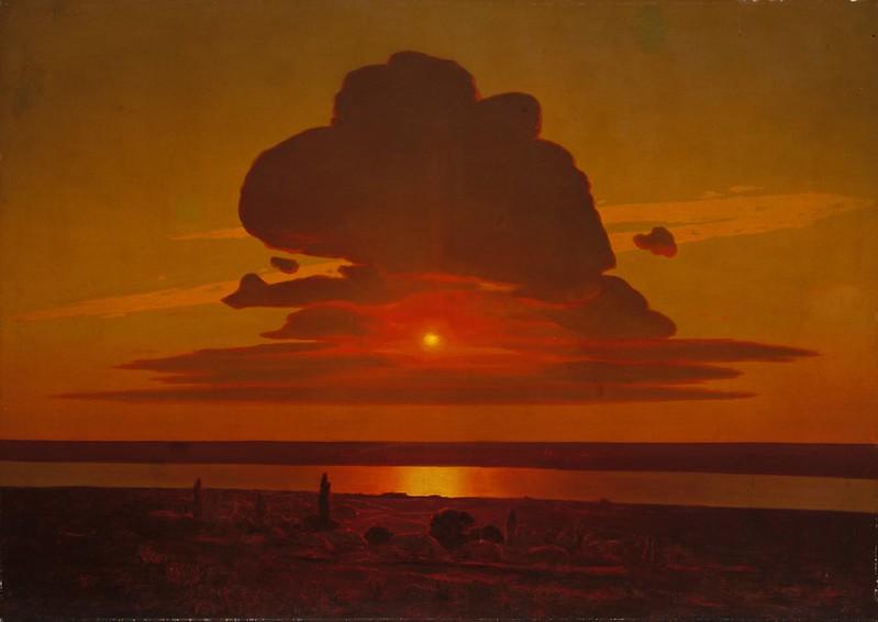 Arkhip Ivanovich Kuindzhi - Red Sunset on the Dnieper (1905)