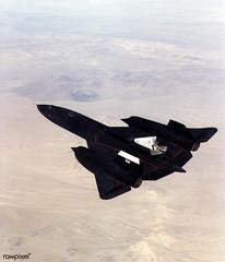 A NASA SR-71 successfully completed its first flight 31 October 1997 as part of the NASA/Rocketdyne/Lockheed Martin Linear Aerospike SR-71 Experiment (LASRE) at NASA's Dryden Flight Research Center, Edwards, California. Original from NASA. Digitally e