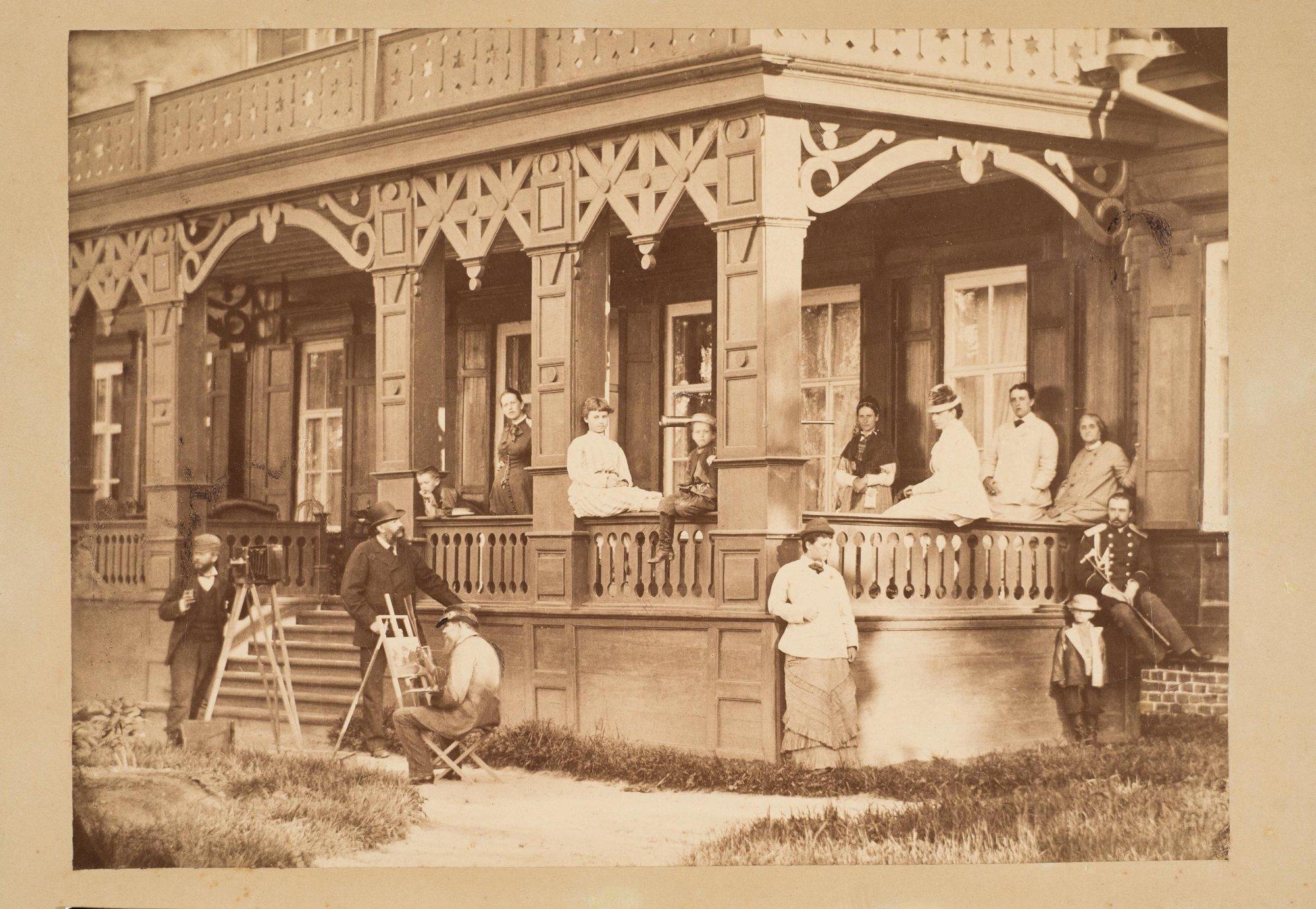 1880-е. Семья графа С.Д. Шереметева в неизвестной усадьбе