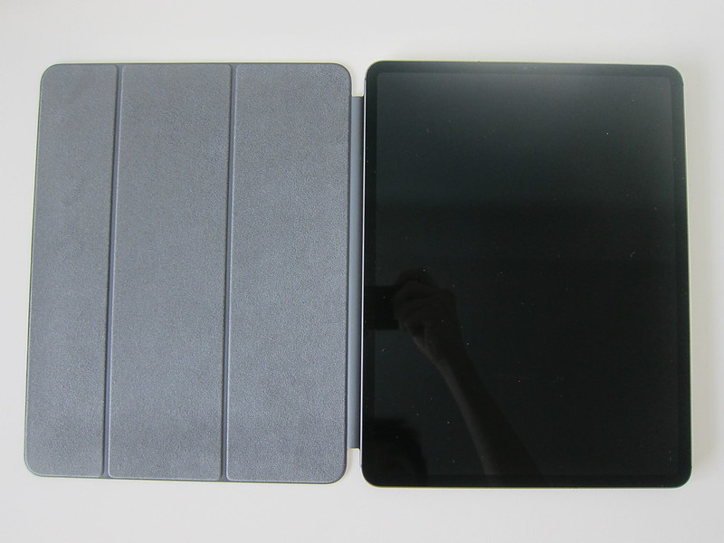 Apple iPad Pro 12.9-inch (3rd Generation) Smart Folio (Charcoal Grey) - With iPad Pro - Front Open