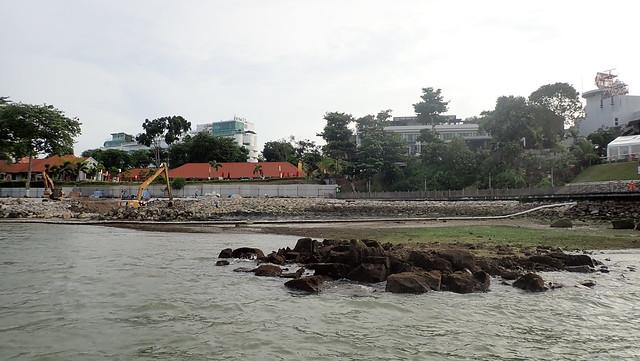 Coastal works at Changi Creek next to Changi Point Ferry Terminal