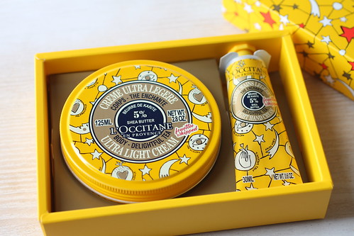 ロクシタンのギフト用人気ハンドクリーム 店舗にて購入ジョイフルスタースノーシア