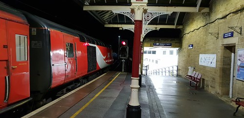 LNER 43299 (with 43306) 3A13 0445 Neville Hill - Skipton. Skipton.  26th January 2019