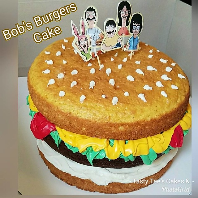 Burger Cake by Tasty Tee's Cakes & Desserts