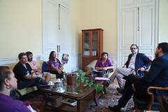 Vicepresidente de la Cámara recibe a dirigentes naciones de organizaciones por la Fibromialgia