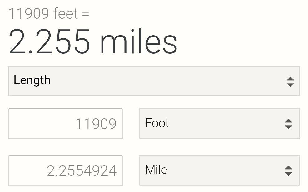 Monorail distance traveled so far.