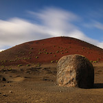 Three metre high lavabomb at Caldera Colorada volcano by Rob Draper