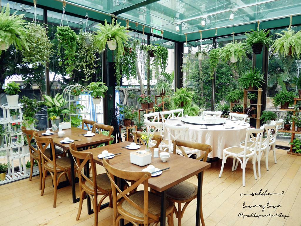 台北古亭站附近絕美玻璃屋植物系浪漫約會餐廳推薦陸聯廳 (3)