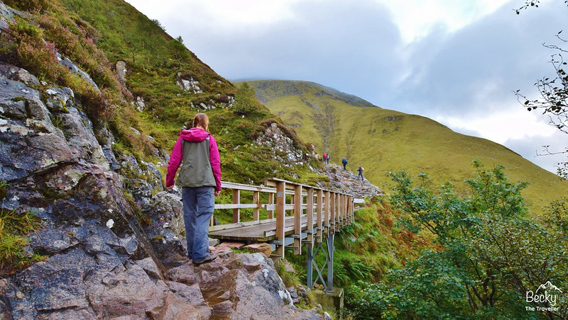 Ben Nevis walk - crossing bridge