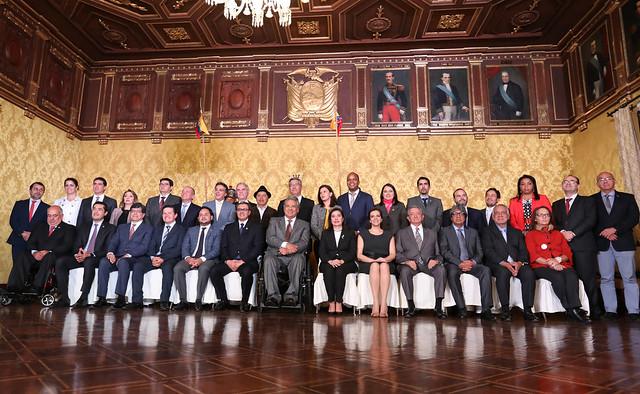 PRESIDENTE MORENO OFICIALIZÓ LOS CAMBIOS EN EL GABINETE MINISTERIAL