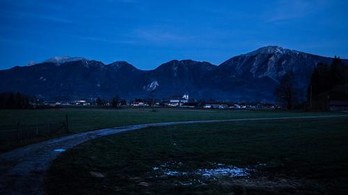 Blue hour: Schlehdorf, Kochelsee, Bavaria