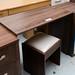 Walnut study dresser with stool E125