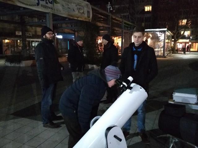 Távcsöves bemutató Zalaegerszeg 2019. január