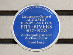 GOC London Public Art 2 092: Augustus Pitt-Rivers plaque