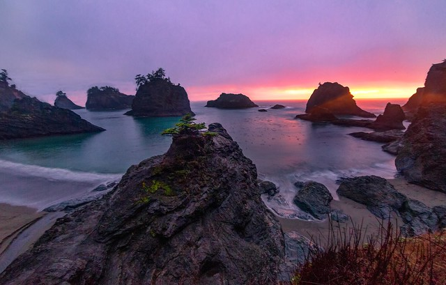Rainy Sunset at Secret Beach