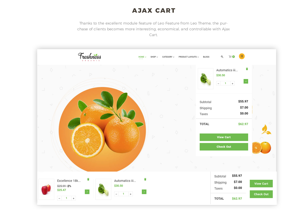 ajax add to cart - Bos Freshness - Food Prestashop Theme
