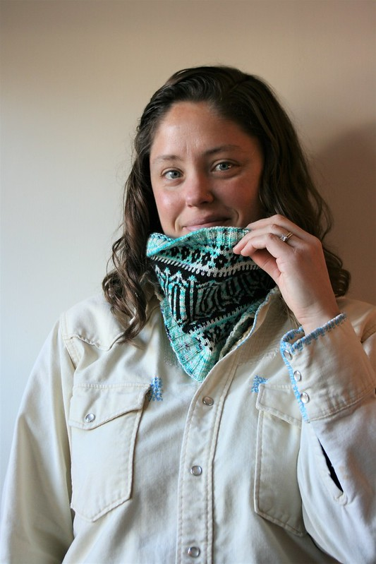 Adventures in Colorwork:  Glacier Park Cowl