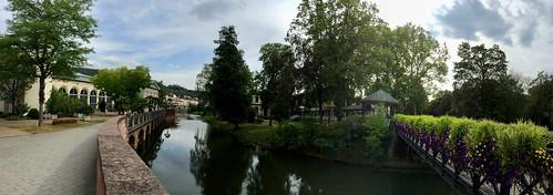 Bavaria / Bad Kissingen / Bridge over the Franconian Saale