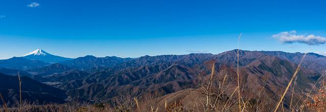富士山・御坂山塊・大菩薩連嶺@三ツ森北峰