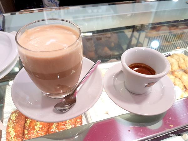 La Pasticceria Siciliana caffe latte and espresso