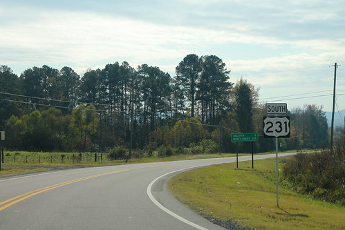 US231 South Sign - Between Blountville and Cleveland