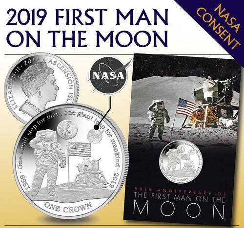 2019 First Man onn the Moon coin ad