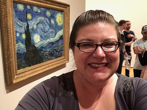 Photo of me with the painting Starry Night in NYC (2018). Catherine Cottam: #VolunteerAbroadBecause It Will Shape You