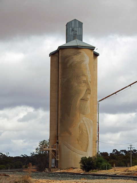 20181122_0055 painted silo at Lascalles, Fujifilm FinePix S1