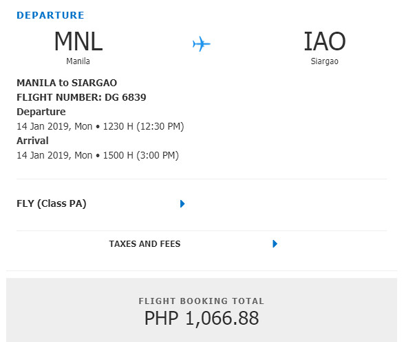 Cebu Pacific Snap Sale - Manila to Siargao