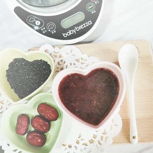 料理機食譜分享_紅棗紫米粥