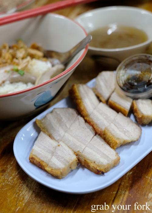Crispy pork at Go-Benz in Phuket Thailand