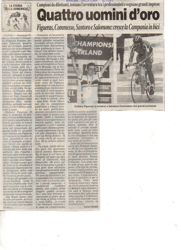 Figueras, Commesso, Santoro e Salomone cresce la Campania in bici