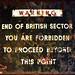 end of British sector........
