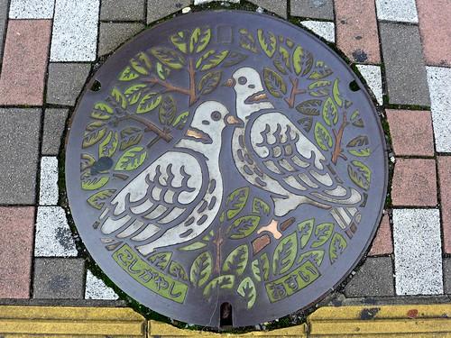 Koshigaya Saitama, manhole cover (埼玉県越谷市のマンホール)