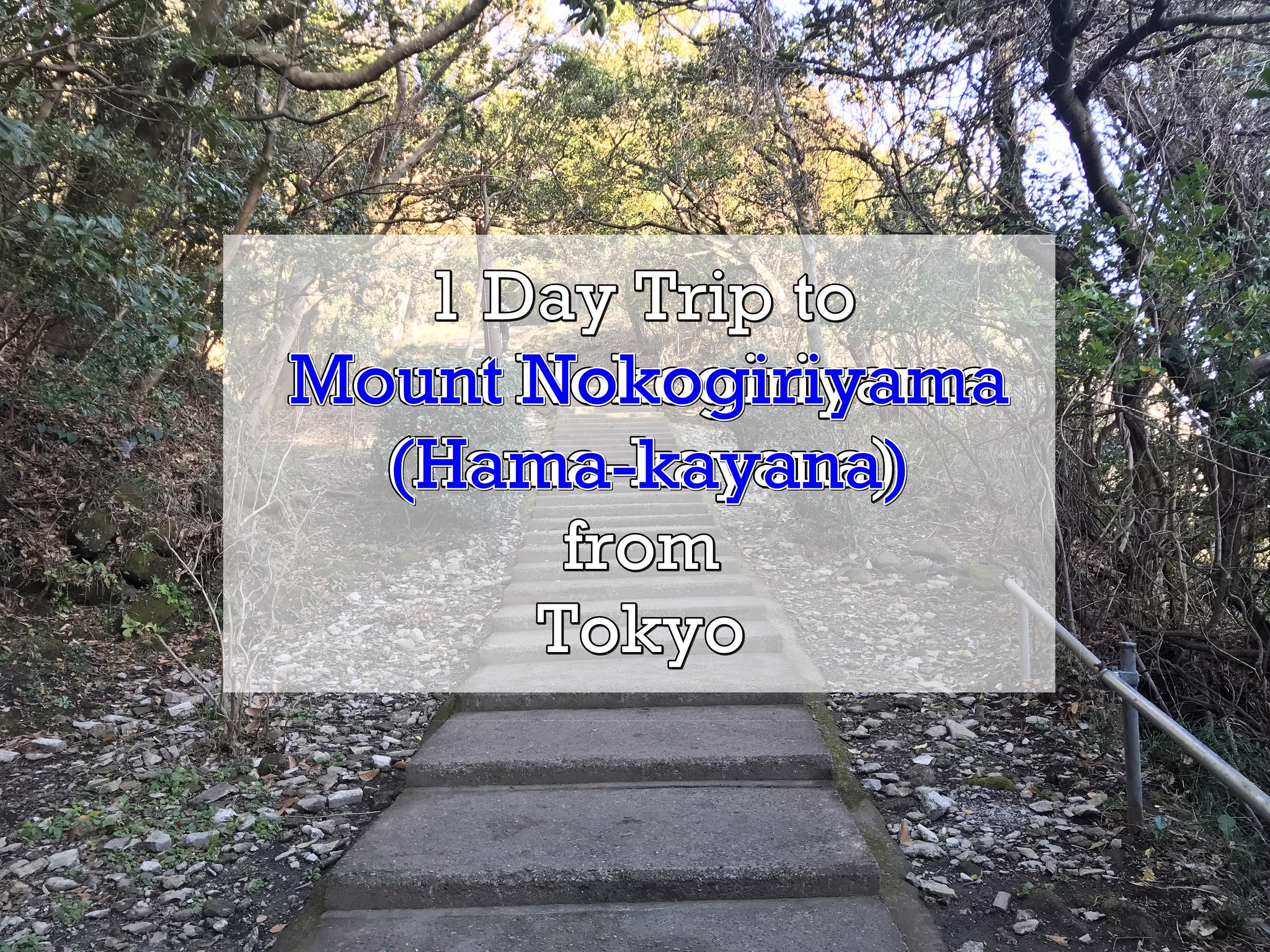 [JAPAN TRAVELS] 1 Day Trip to Mount Nokogiriyama ( Hamakayana) from Tokyo