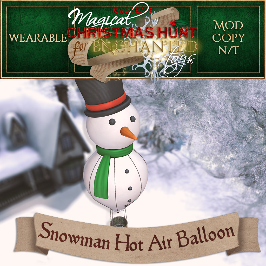Snowman Hot Air Balloon Christmas Hunt Prize - TeleportHub.com Live!