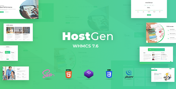 HostGen v1.0 - Multipurpose Hosting Provider HTML5 Template With WHMCS