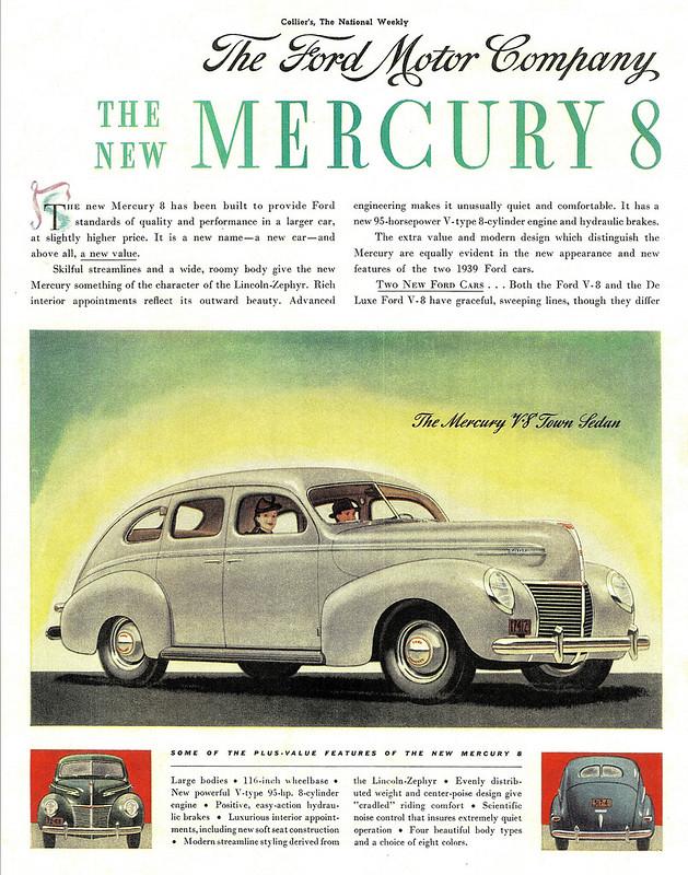 1939 Mercury V-8 Town Sedan