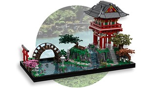 讓人想要悠閒漫步其中的優美庭園! Coosey__Goosey 樂高MOC 作品【日本茶園】Japanese Tea Garden