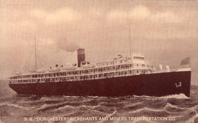 S.S. Dorchester postcard