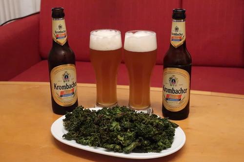 Alkoholfreies Weizen zu Kale Chips