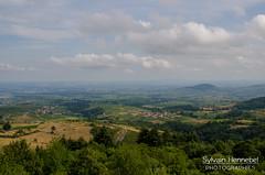 Panorama sur la vallée de la Saône depuis les monts du Beaujolais