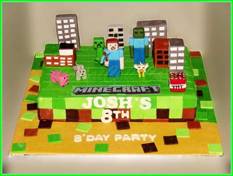Cake Minecraft JOSH 20x30