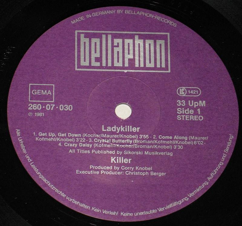"""KILLER LADYKILLER SWISS HEAVY METAL 12"""" vinyl LP"""