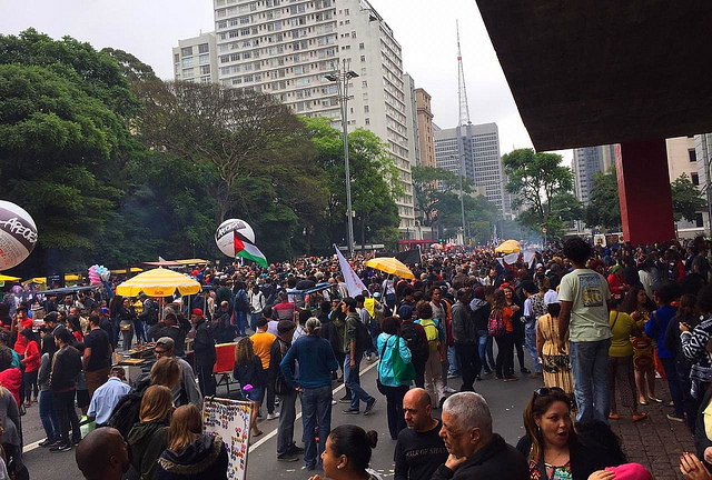 Demonstrators gathered in São Paulo to march on Black Awareness Day - Créditos: Juca Guimarães