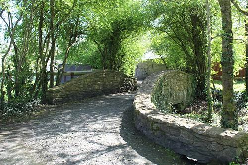 I love this stone bridge that goes over a stream that runs through the park