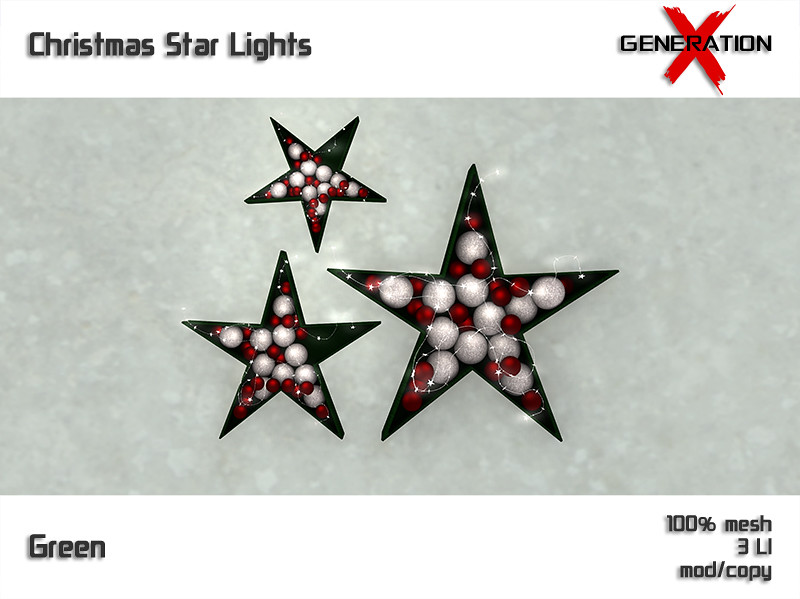 [ Generation X ] Christmas Star Lights – Green