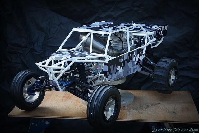 Snadrail cage Ver-41 for HPI Baja with RCMAX engine.