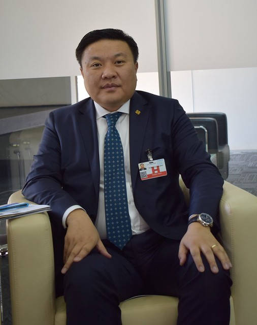 Tserenbat Namsrai, minister of Mongolia's Environment and Tourism Ministry